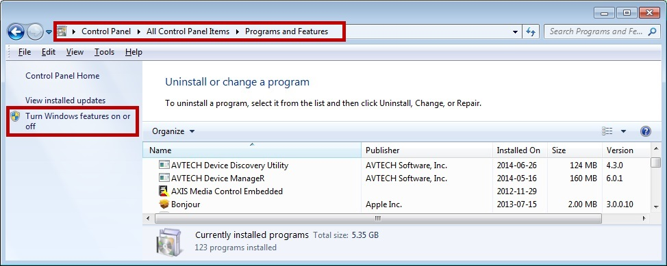 How To Enable TFTP In Windows (Versions Vista And Above) - AVTECH