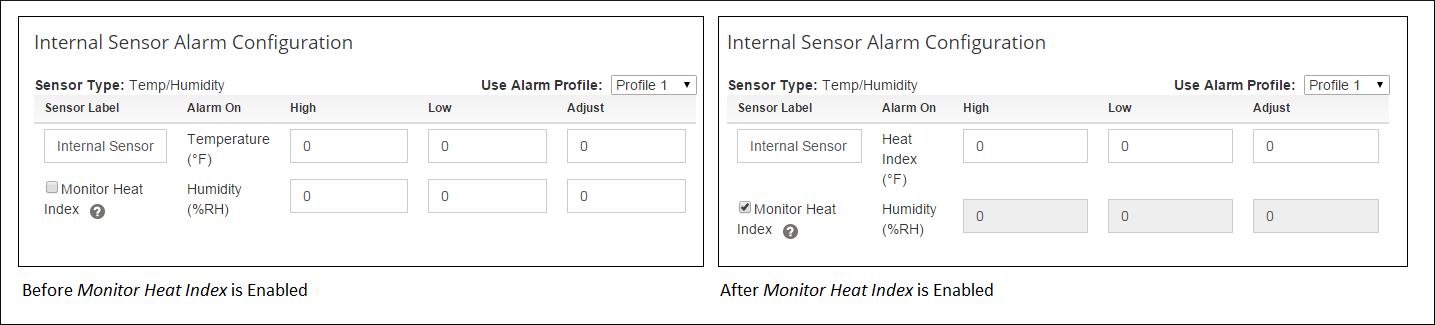 Before and After Monitor Heat Index Enabled