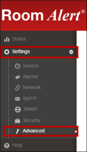 Navigation Bar -- Settings--Advanced