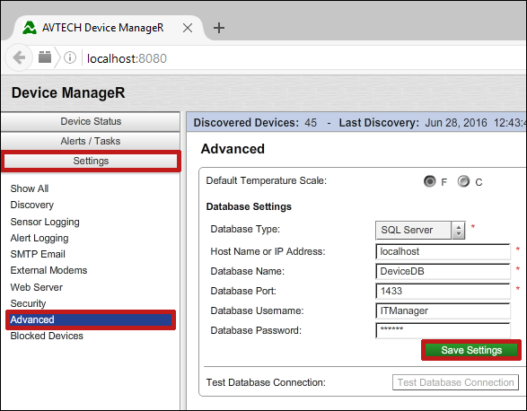 How To Configure SQL Server For Use With Device ManageR - AVTECH