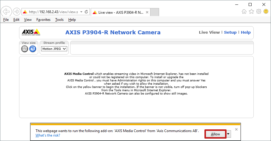 How To Configure Your Axis Camera To Work With Device