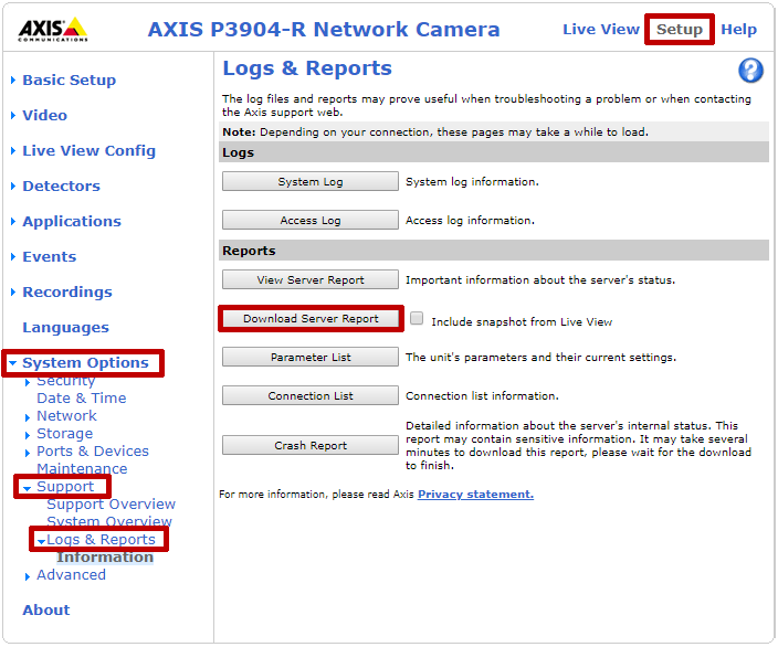 How To Retrieve Logs From An Axis Camera - AVTECH