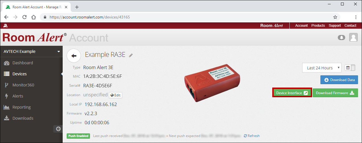 How To Open Your Room Alert Monitor's Built-in Web Interface