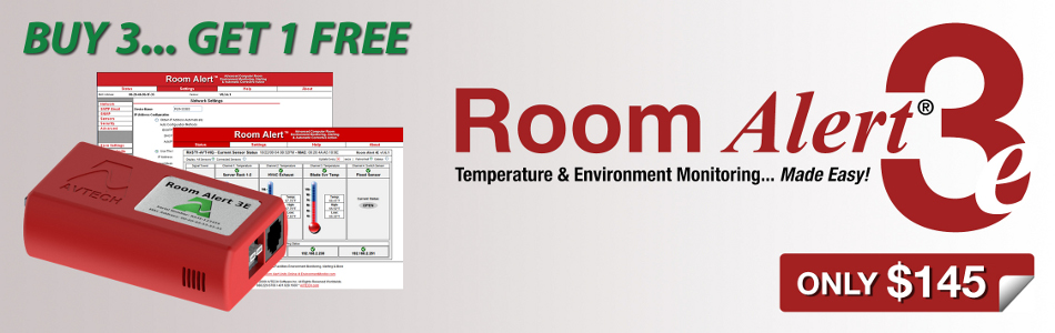 AVTECH Room Alert 3E - Temperature and Environment Monitoring Made Easy!